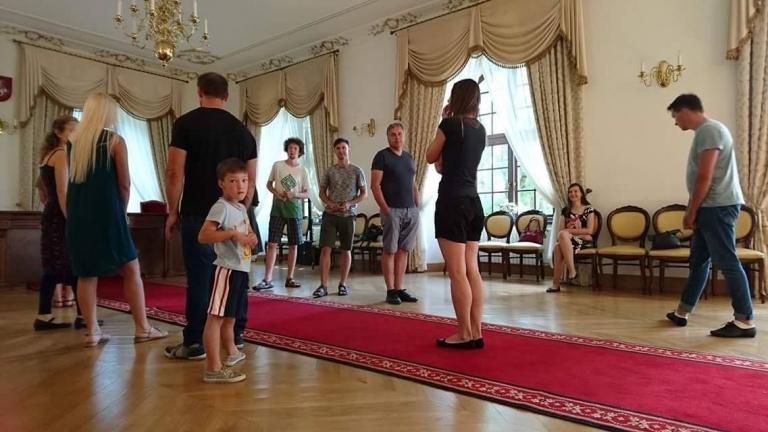 Senovinių šokių repeticija